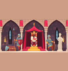 Castle people composition vector