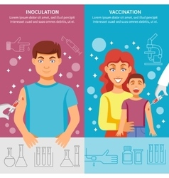 Child And Adult Vaccination Banner Set vector image