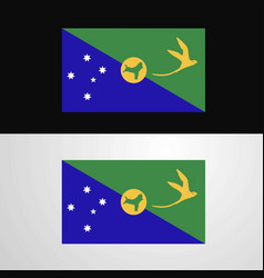 Christmas island flag banner design vector