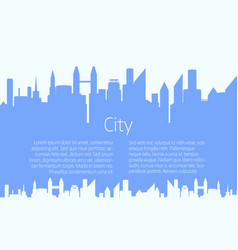 city landscape background vector image