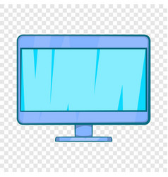 computer monitor icon in cartoon style vector image