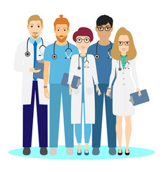 doctor set medical team in clinic vector image