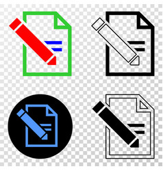 Edit text page eps icon with contour vector