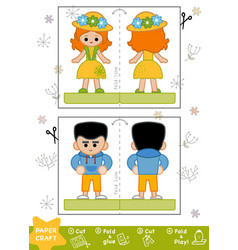 education paper crafts for children boy and girl vector image