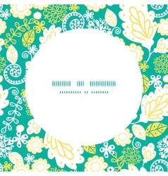 Emerald flowerals frame seamless pattern vector