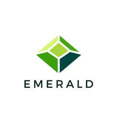 Emerald gem logo icon vector