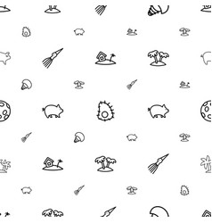 Exotic icons pattern seamless white background vector