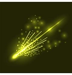 Falling comet vector