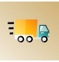 Fast shipping and delivery halftone stylized vector
