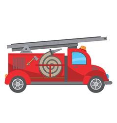 Fire truck cartoon vector image