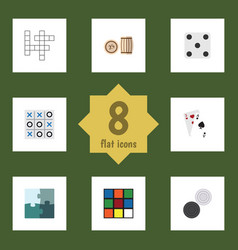 flat icon play set of xo ace guess and other vector image