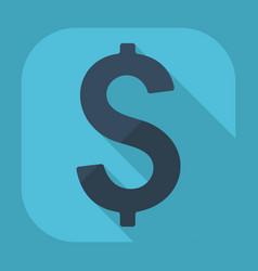 Flat modern design with shadow dollar vector