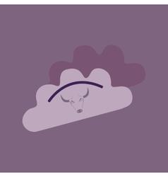 Flat with shadow Icon dumplings and beef vector