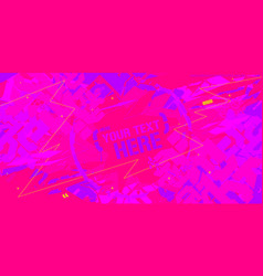 Fluorescent neon abstract graffiti style banner vector