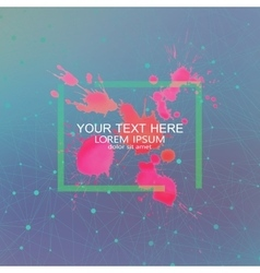 Geometric background dots with connections vector image