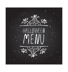 Halloween menu - typographic element vector