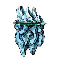 iceberg is above water vector image