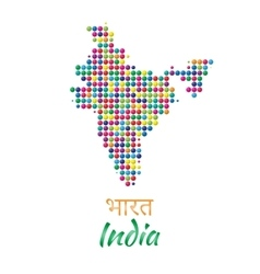 India Map black multicolor dotted design vector image