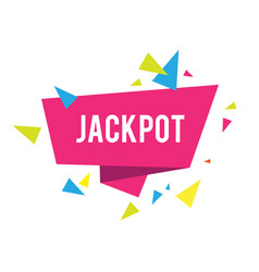 jackpot iinformation banner with triangles game vector image