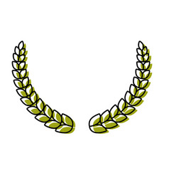 laurel wreath design vector image