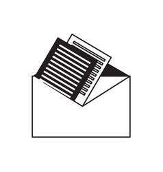 letters on a envelope icon vector image
