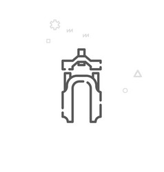 Mountain bike fork line icon symbol pictograph vector