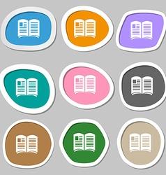 Newspaper symbols Multicolored paper stickers vector image
