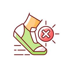 No sports in sun heat rgb color icon vector