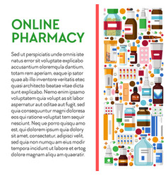 online pharmacy banner with medication packages vector image