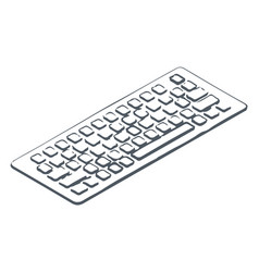 pc keyboard with buttons to input information vector image