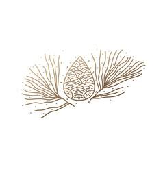 Pinecone logo design vector