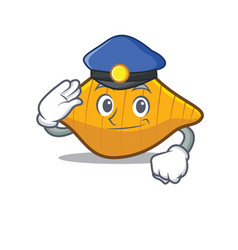 police conchiglie pasta character cartoon vector image