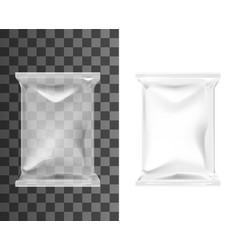 Pouch bag sachet pack blank plastic foil package vector