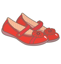 Red girls shoes vector
