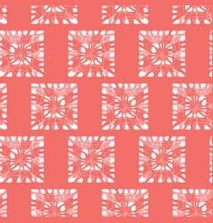 Red shibori monochrome squares seamless vector