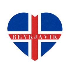 Reykjavik textured background of iceland flag in vector