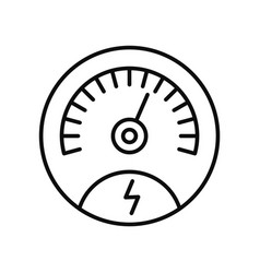 Save energy dashboard icon outline style vector