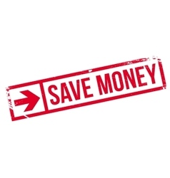 Save money stamp vector