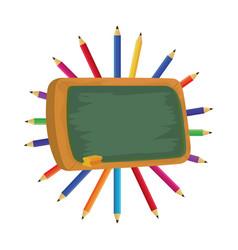 School pencils cartoon vector