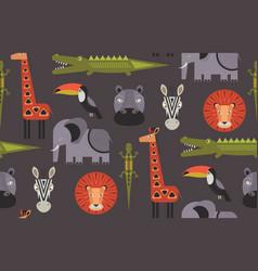 Seamless pattern with geometric cartoon vector