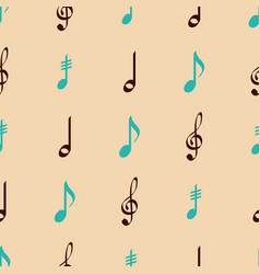 Seamless pattern with musical symbols vector