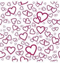 Seamless pattern with pink hearts vector