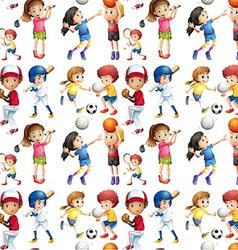 seamless sport vector image
