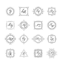 Set luxury sign vector