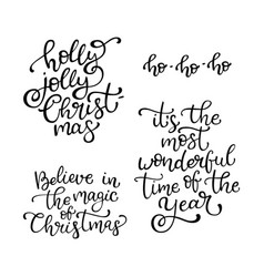 Set of hand drawn quotes vector