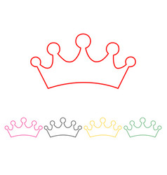 Set of princess crowns vector