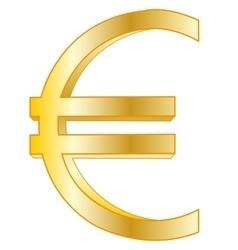 Sign euro golden vector