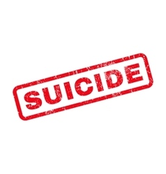 Suicide Rubber Stamp vector