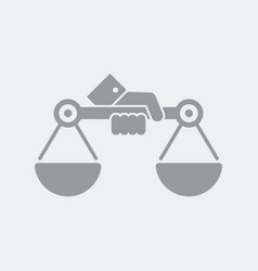 symbol of justice and equity vector image