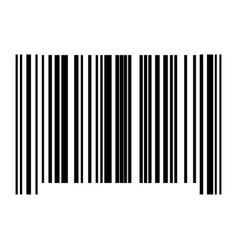 the barcode black color icon vector image